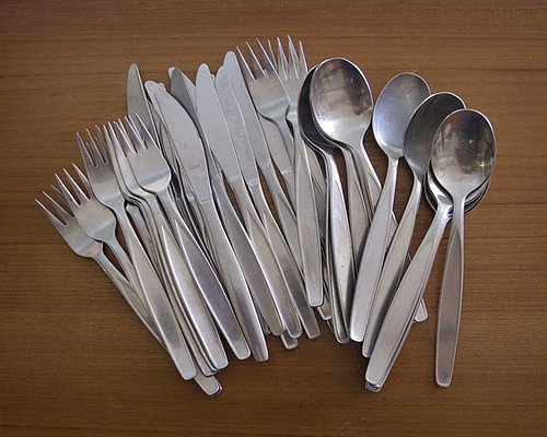 Stainless steel Scandinavian midcentury cutlery