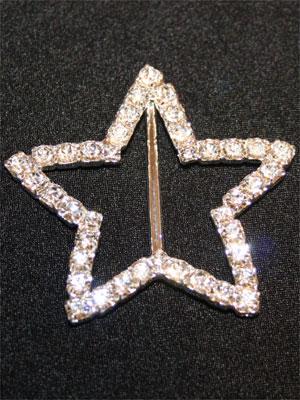 "Spänne ""STAR"" crystal/silver"