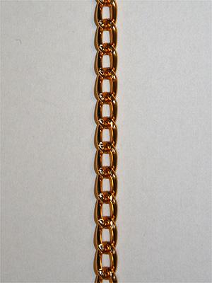 KEDJA - guld, 5x7 mm