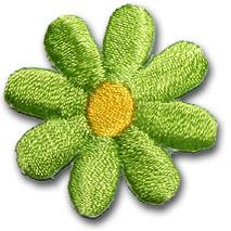 Liten blomma - grön/gul