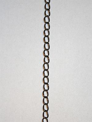 KEDJA - gunmetal, 3x5 mm