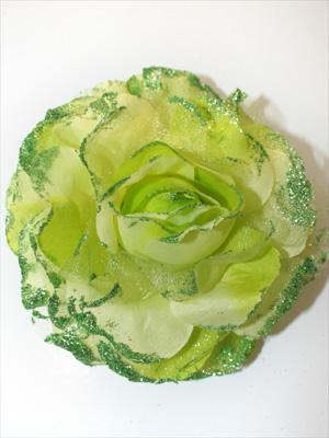GLITTERROS - limegrön