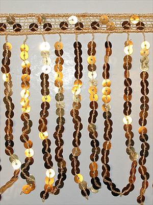 PALJETTFRANS - guld/metallic 15 cm