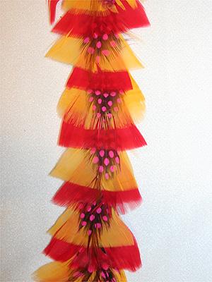 FJÄDERBAND - gul/rosa/orange
