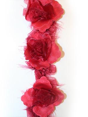 ROSBAND - rött