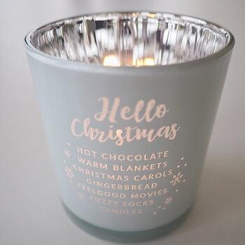 Ljuslykta  Hello Christmas Vit/Silver - Majas Cottage