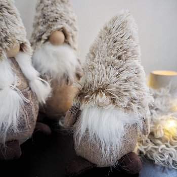 Cozy Santa Tiny 16cm Greige - Majas Cottage