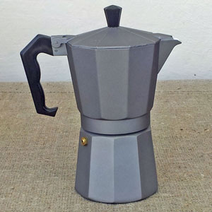 Italiensk Espressokanna dark gray