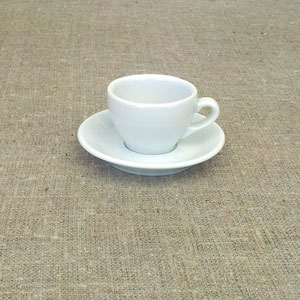 Fransk espressokopp Bahia klassisk modell i vitt