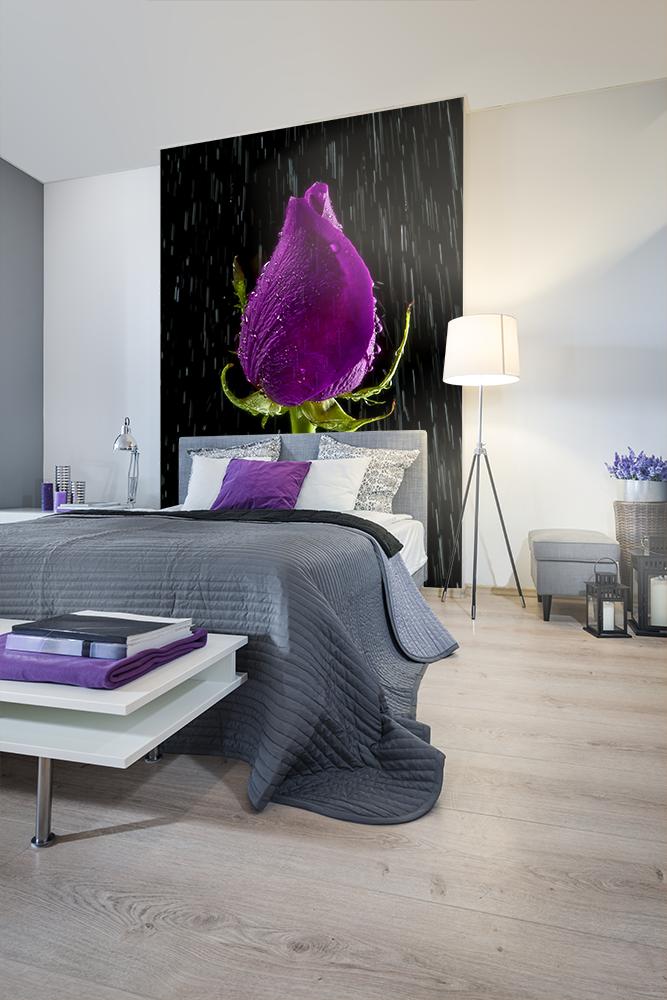 Speciell sovrumstapet med motivet av en blomma
