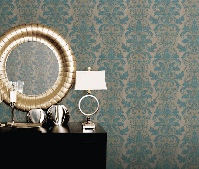 Vintage damasks kotitapetti for Arthouse jardin wallpaper