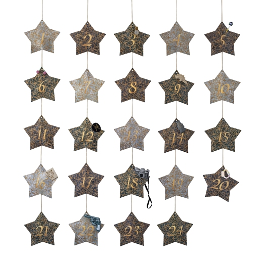 Adventskalender Stjärnor Blå