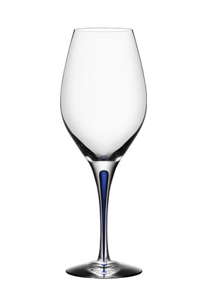 Intermezzo Blue Balance Wine Glass - Orrefors