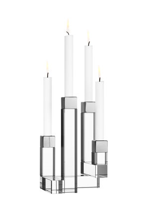 Chimney Candlestick 4 arms - Orrefors