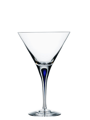 Intermezzo Blue Martini Glass - Orrefors