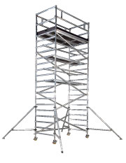 Lättmetallställning bred, plattformshöjd 4,0 m
