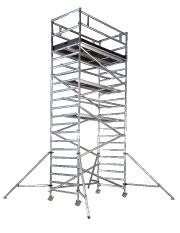 Lättmetallställning smal, plattformshöjd 8,0 m
