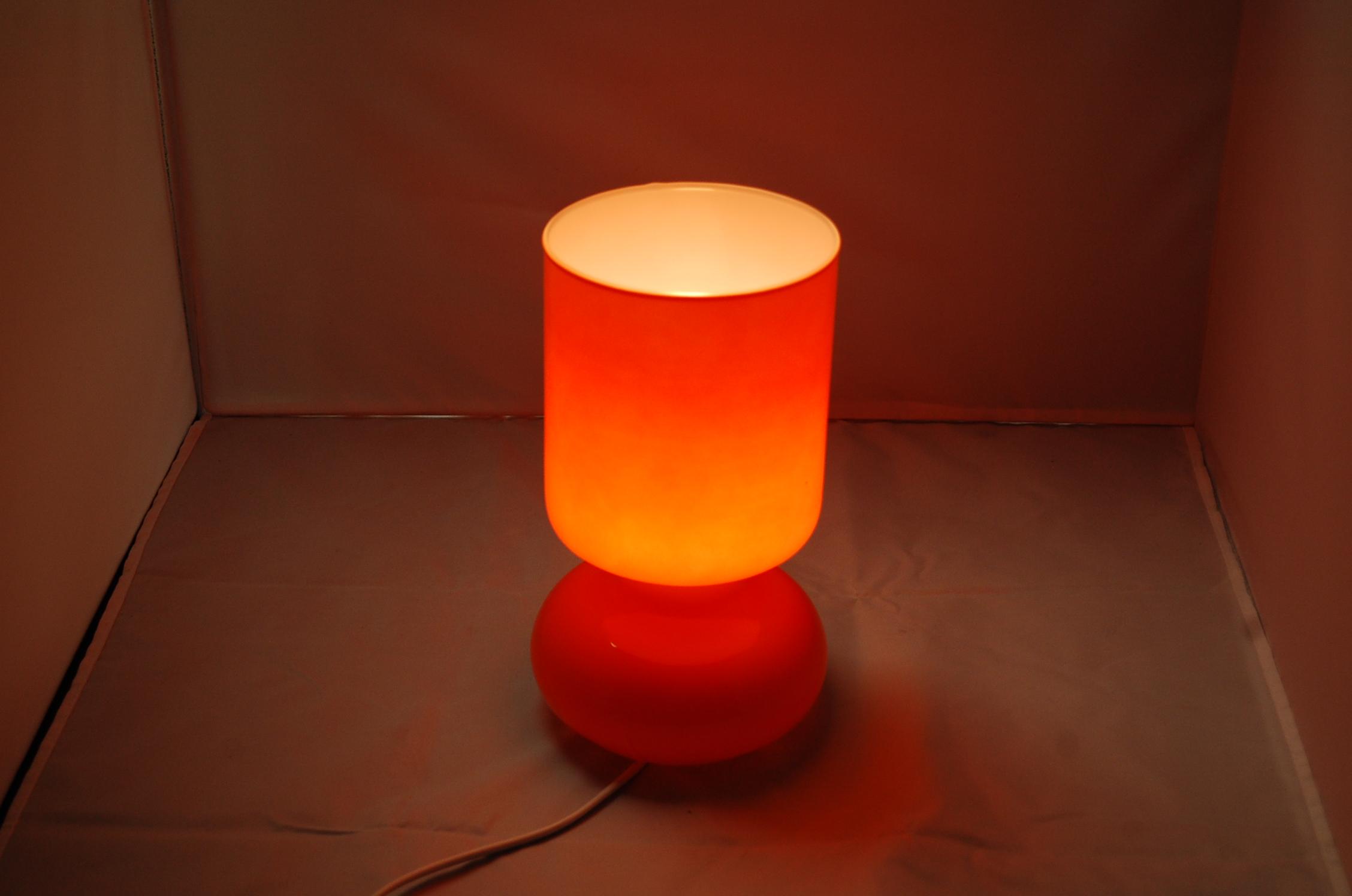 Tischlampe Retro Ikea Lykta Orange Allforsale Se Gebraucht