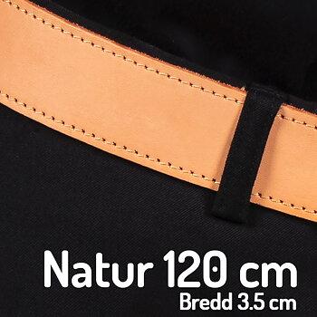 Skärp  120 cm natur3.5 cm
