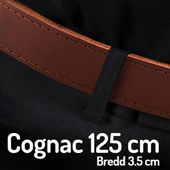 Skärp  125 cm Cognac 3 cm
