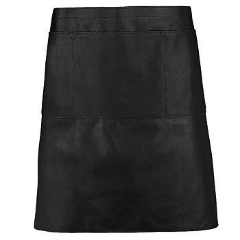 Midjeförkläde i skinn, svart