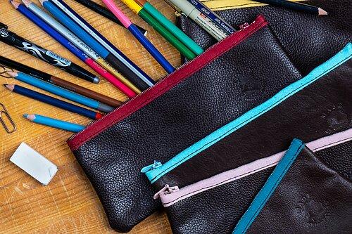 Snygga pennfodral i läder