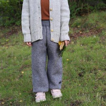 Byxor i valkad ull - varma överdragsbyxor till barn