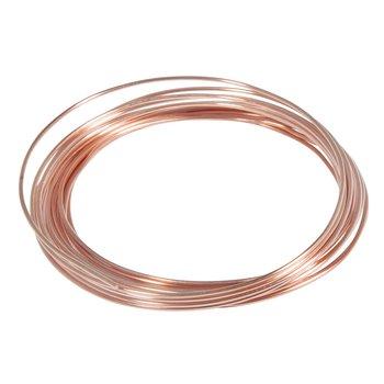 Koppar - metalltråd ,  ø 1,2 mm,  3 m, Rayher