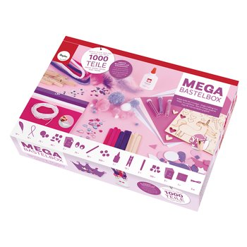Mega craft box - Unicorn, 1000-delar, vit/rosa/lila, Rayher