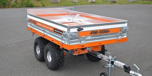 TT 1300H - trevägstippande hydraulvagn med fjärrkontroll för snabb avlastning