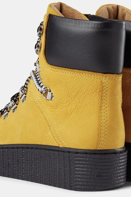 Agda Nubuck Lace-Up Boot