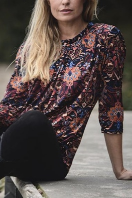 Grazia Blouse 3/4 sleeve print