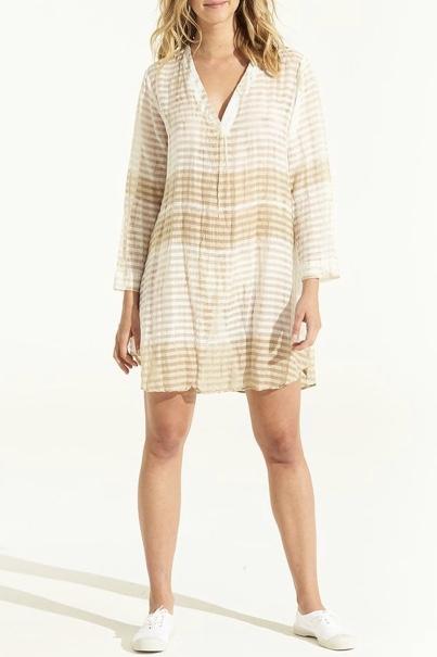 Jess Middy Dress Self Stripe