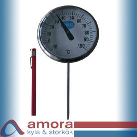 Termometer, insticks, Ø45x140mm, -10°C / +100°C