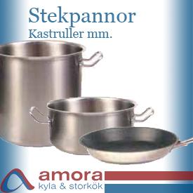 Stekpannor, Kastruller mm.