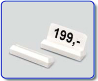 Etiketthållare 22 mm med 25° slits, vit