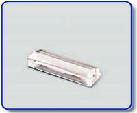 Etiketthållare 22 mm med 25° slits, transp