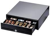 Kassalåda, svart, dim B330 x D249 x H101