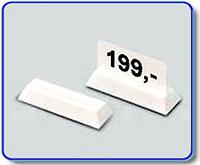 Etiketthållare 22 mm med rak slits, vit