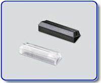 Etiketthållare 18 mm med 25° slits, svart
