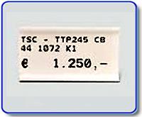 Fristående etikettbärare för 10x22 mm etiketter, vit
