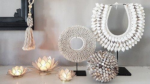 SNÄCKSKALSDEKORATIONER Fantastiska dekorationer som tillför en bohemisk touch
