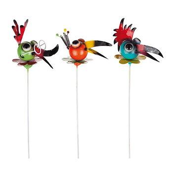 Different Design Fågel på Smide Stick