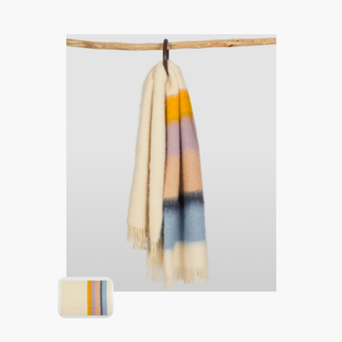 Serenity Dip Dye Mohair Throw