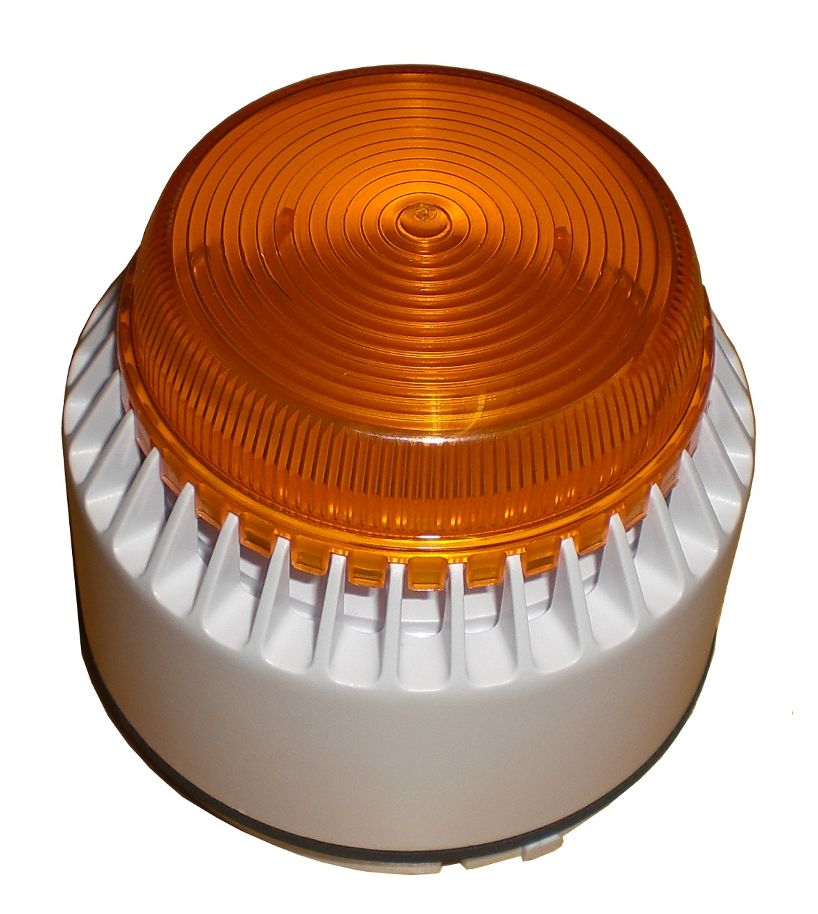 Alarm siren with lighted signal