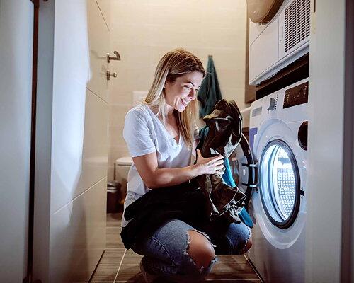 Håll kläderna rena  Handla tvättmedel →