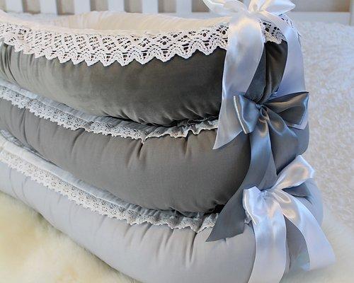 Babynest Välj bland många tyger av hög kvalite Sammet, linne, bomull, eko