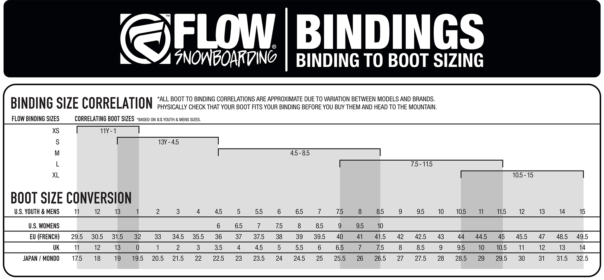 Flow snowboard binding micron str xs standtall se