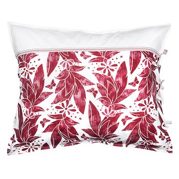 Shyness Pillow Case Butterfly White/Red