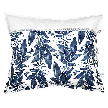 Shyness Pillow Case Butterfly White/Navy